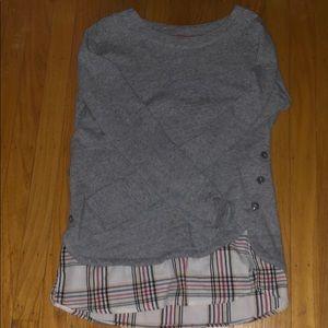 Grey IZOD Long Sleeve Top